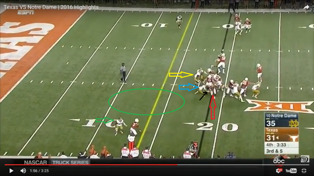 ss 4 - post snap missed tackle - highlighted