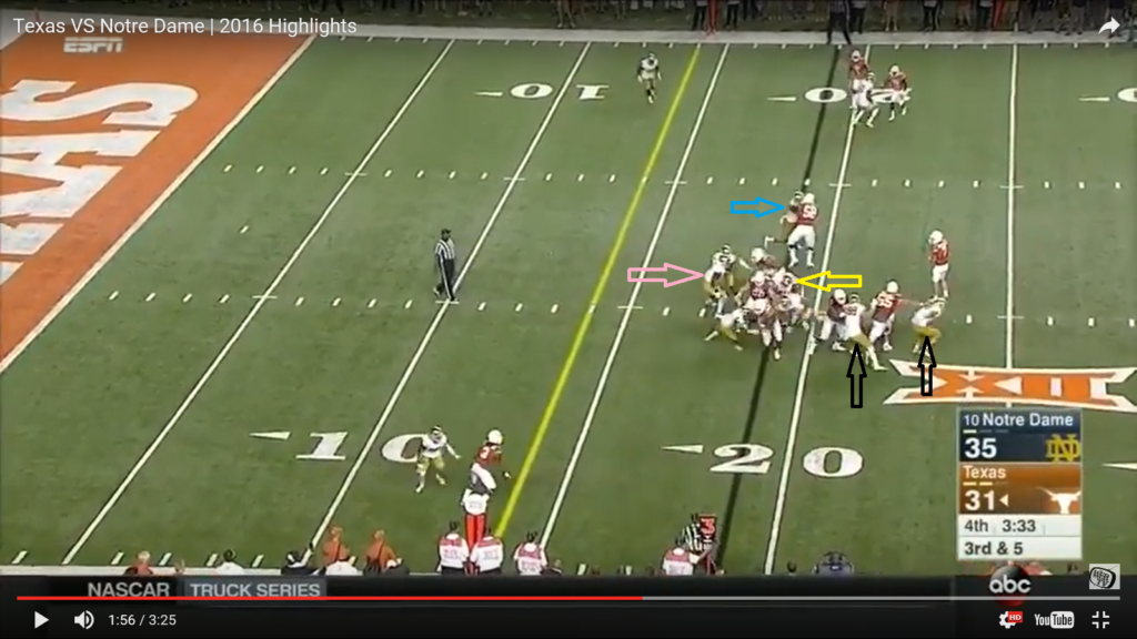 ss 4 post snap - nobody getting off blocks - highlighted