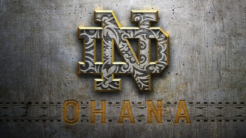 Notre Dame transfer Alohi GIlman shared this image from the ND digital team.