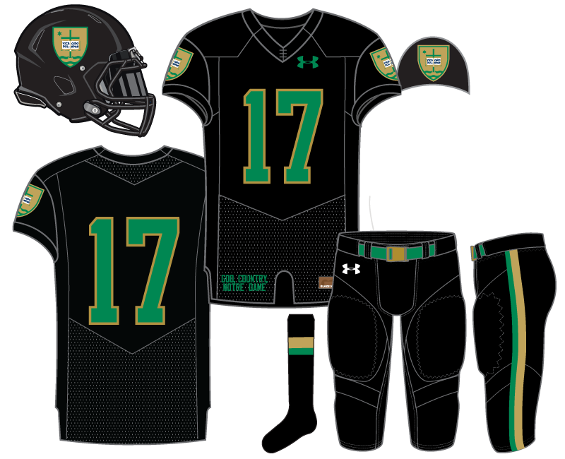 7b85773bf Uniform Concept  Academic Black. Today we publish our 9th Notre Dame  football ...