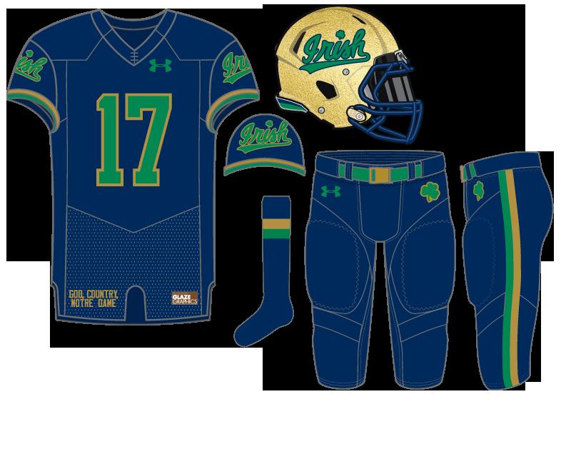 702e8b63e Notre Dame Football Uniform Concept  Irish Midnight
