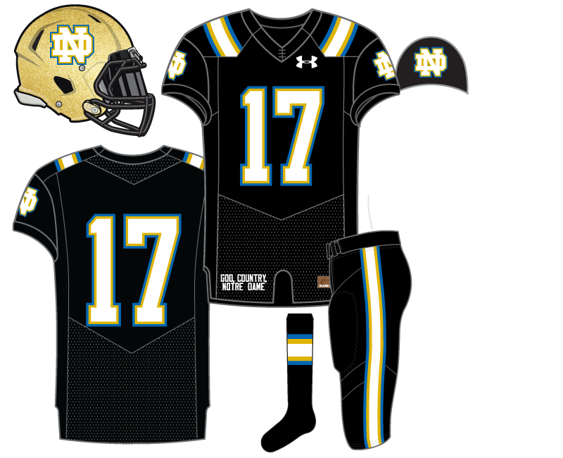 24c78377f Notre Dame Football Uniform Concepts  Black for Black s Sake IV