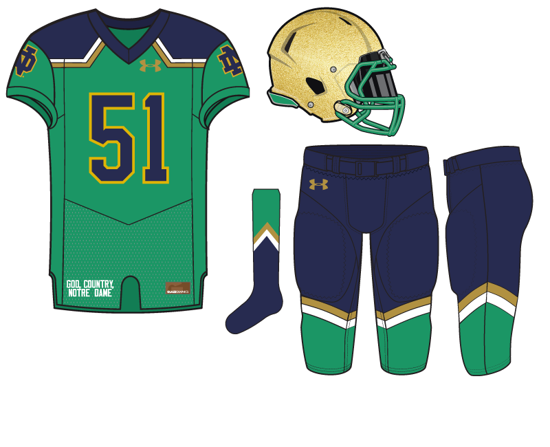 new arrival bba31 b43fa Notre Dame Football Uniform Concept: Fall 2017 Under Armour ...