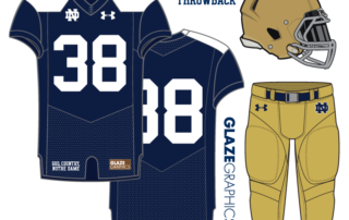eb03f1cdb62 Uniform Concept: Layden Throwback. Today marks our 27th uniform concept for Notre  Dame football ...