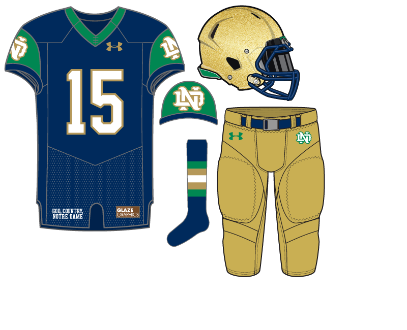 5f9dd60e6 Uniform Concept  Interlocking Monogram. Here s our 31st Notre Dame ...