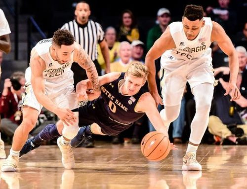 Shorthanded Irish Can't Overcome Shooting Woes