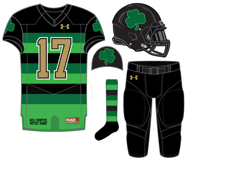 02ab5623308 Notre Dame Football Uniform Concept: St. Patrick's Day