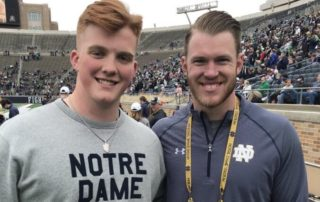 Quinn Carroll and Kyle Rudolph