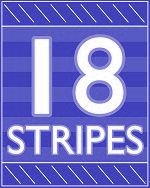18 Stripes Logo