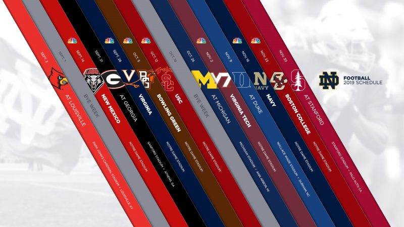 Notre Dame 2019 Football Schedule