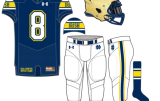 f008b10e145 Uniform Concept: Blue Irish. Today marks our 39th uniform concept for Notre  Dame football.